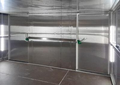 Cella di fermalievitazione a carrelli per produzioni industriali di panifici e pasticcerie