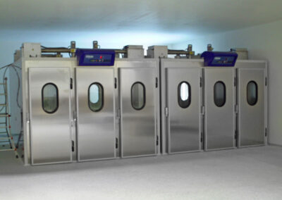 Celle di lievitazione a carrello per laboratori artigianali di panificazione e pasticceria